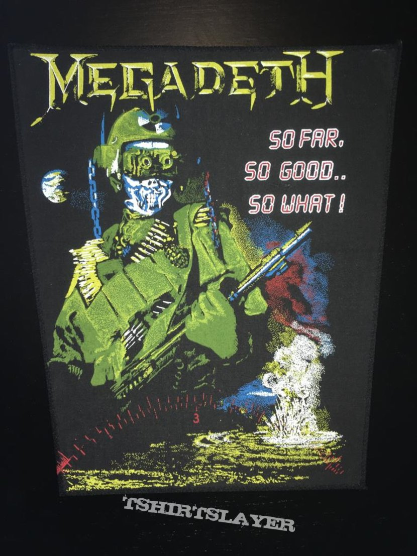 Megadeth - So Far, So Good...So What! - Back Patch