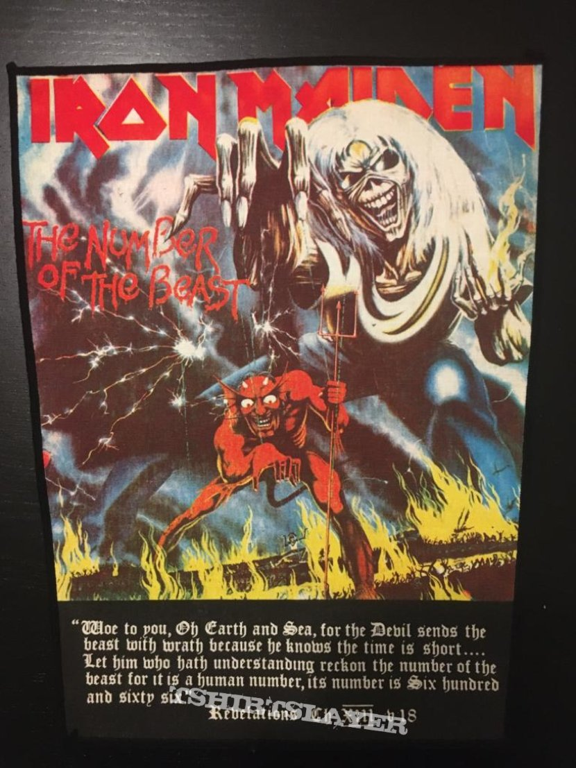 Iron Maiden - Number of the Beast - Vintage Back Patch (Version 3)