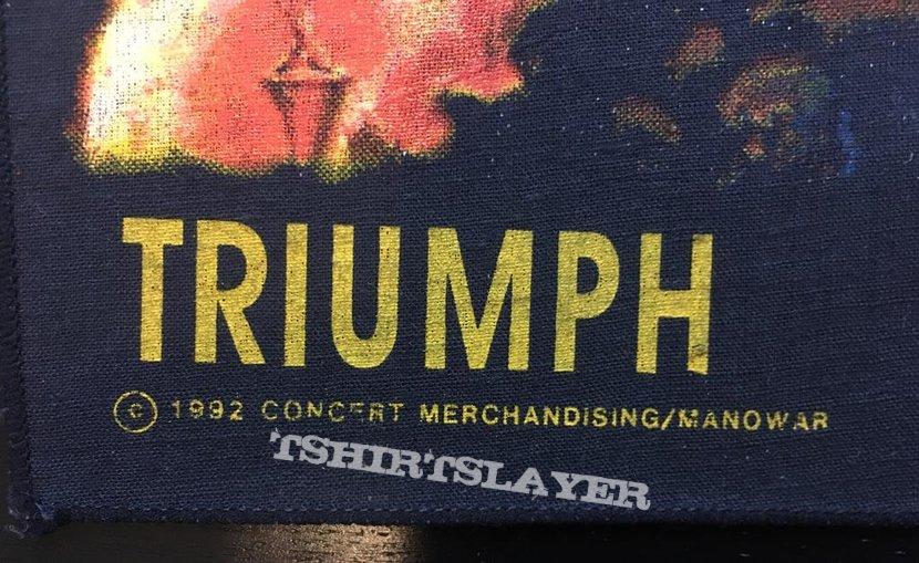 Manowar - Triumph of Steel - Back Patch 1992