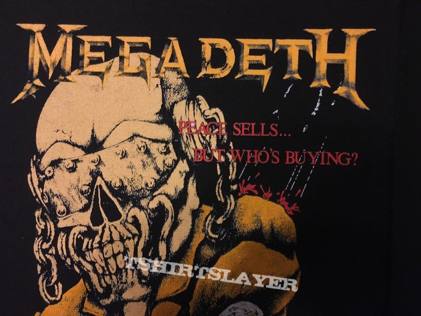 Megadeth - Peace Sells...But Who's Buying - Vintage Back Patch 1987