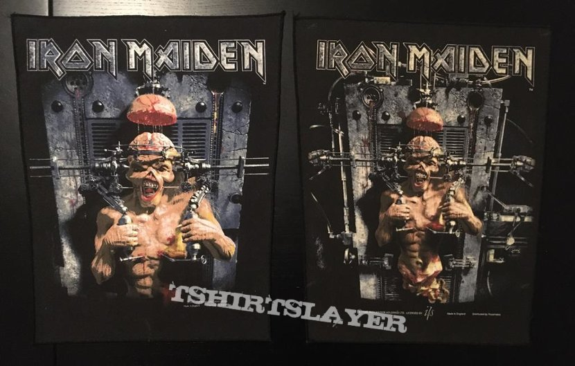 Iron Maiden - X-factor - Back Patch 1995 (version 1)