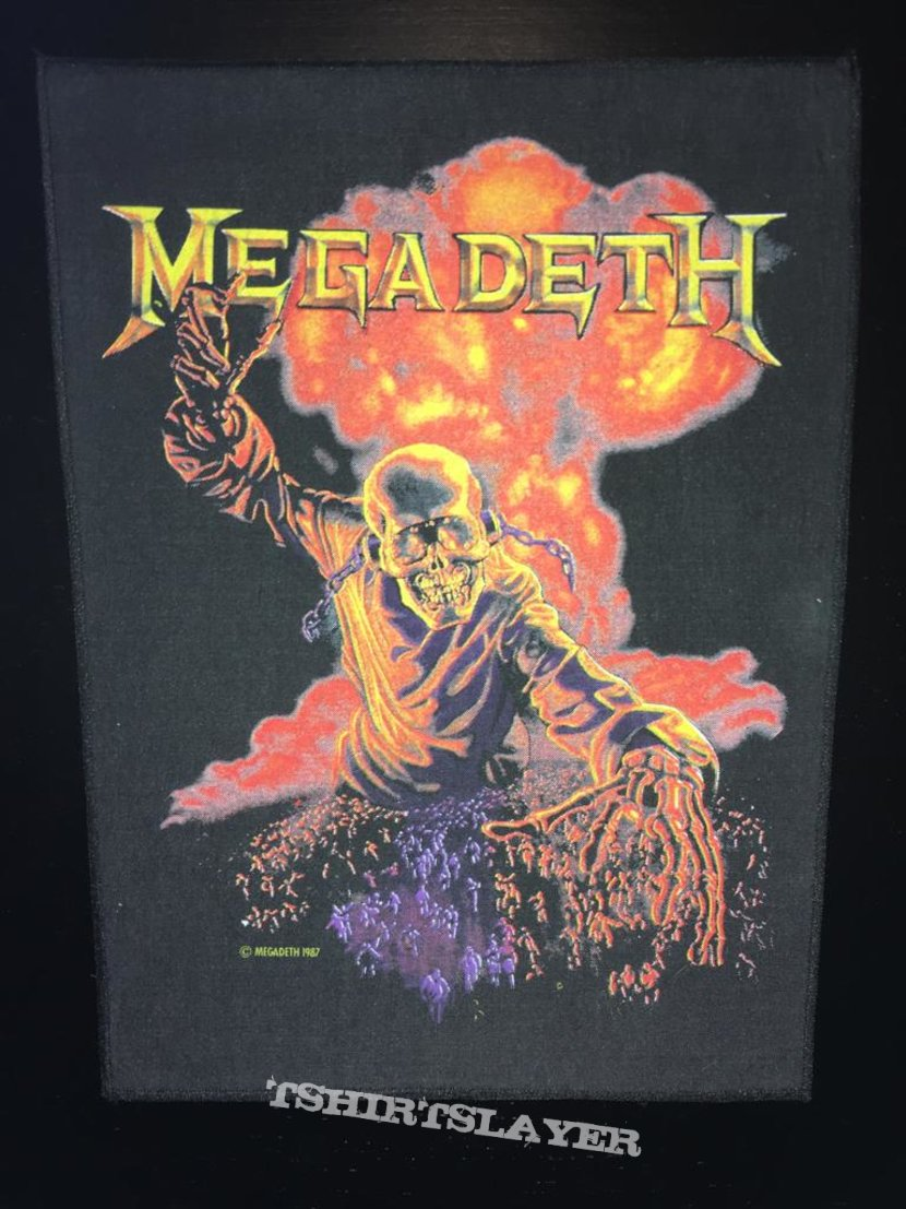 Megadeth - Nuclear Explosion - Back Patch 1987