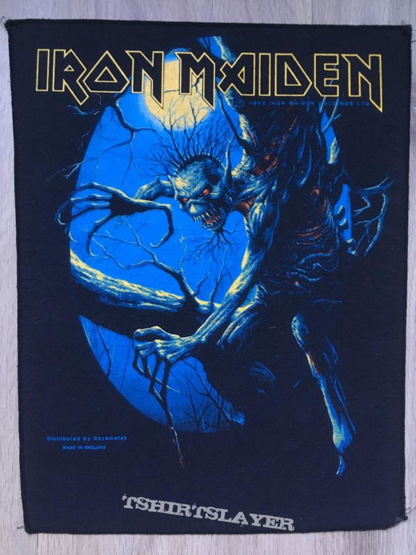 Iron Maiden - Fear of the Dark - Back Patch 1992 (Blue Version)
