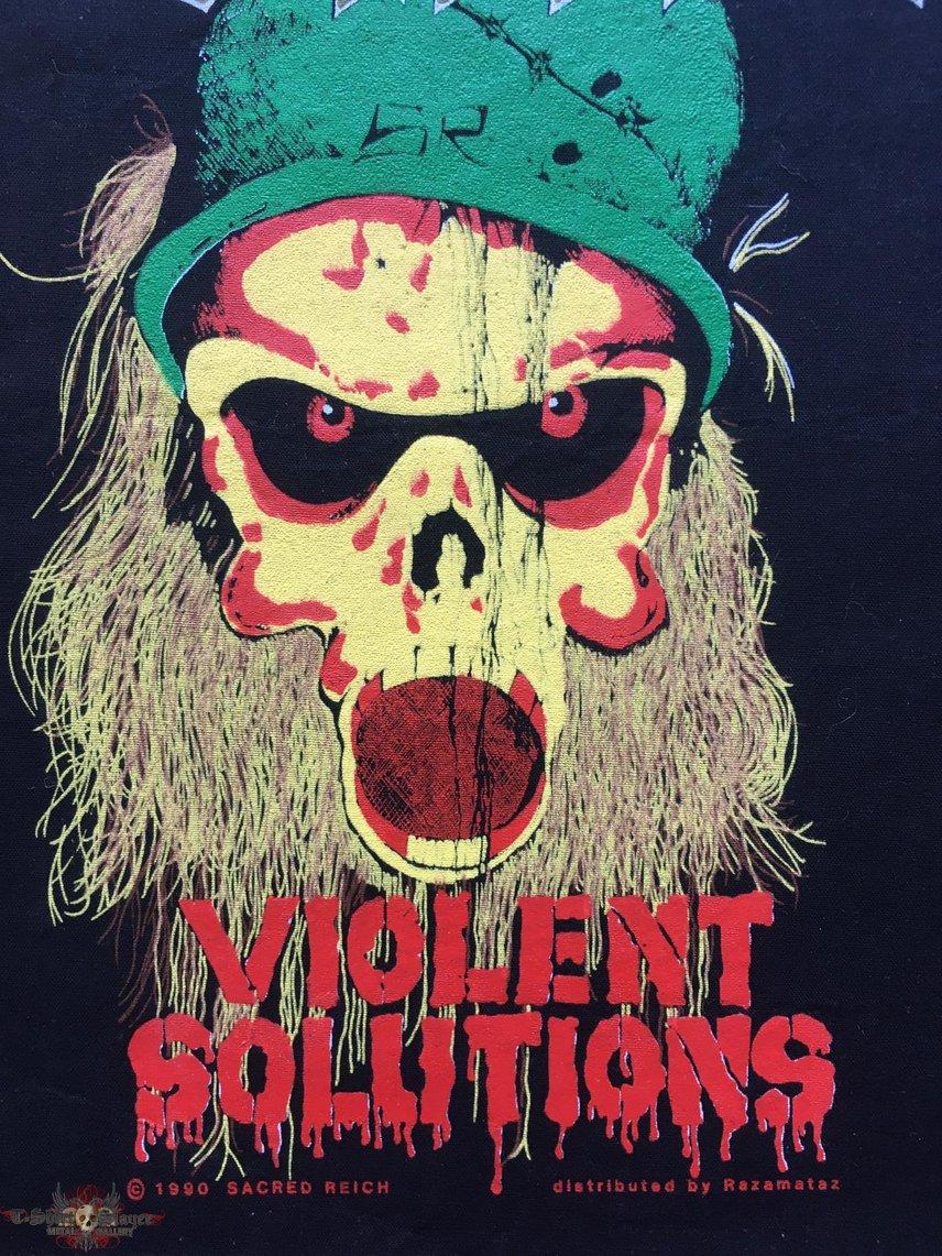 Sacred Reich - Violent Solutions - Back Patch 1990