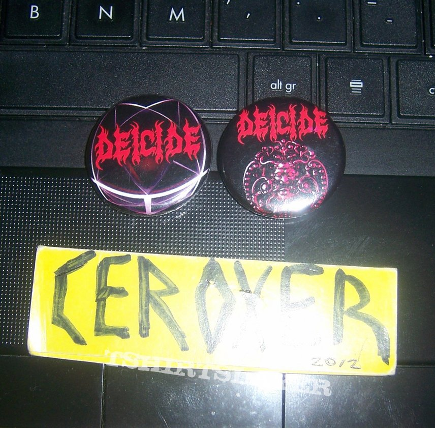 deicide pin badge