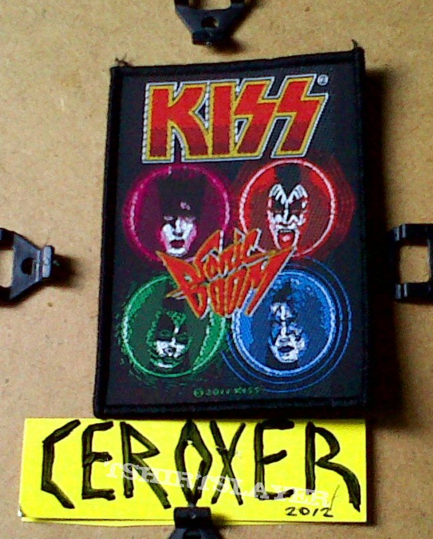 kiss sonic boom woven patch