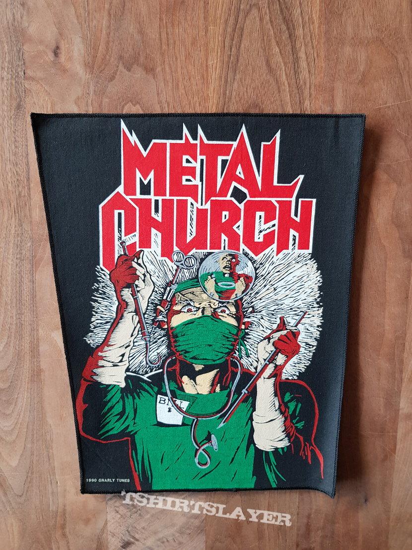Metal Church - Fake Healer - Vintage Back Patch 1990