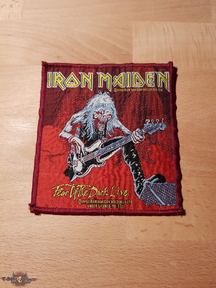 Iron Maiden - Fear Of The Dark Live - red border vintage patch