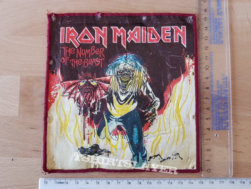 Iron Maiden - Number Of The Beast - red broder oversized patch