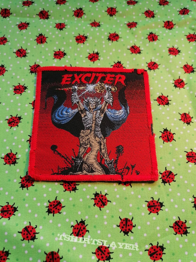 Exciter - Long Live The Loud - red border patch