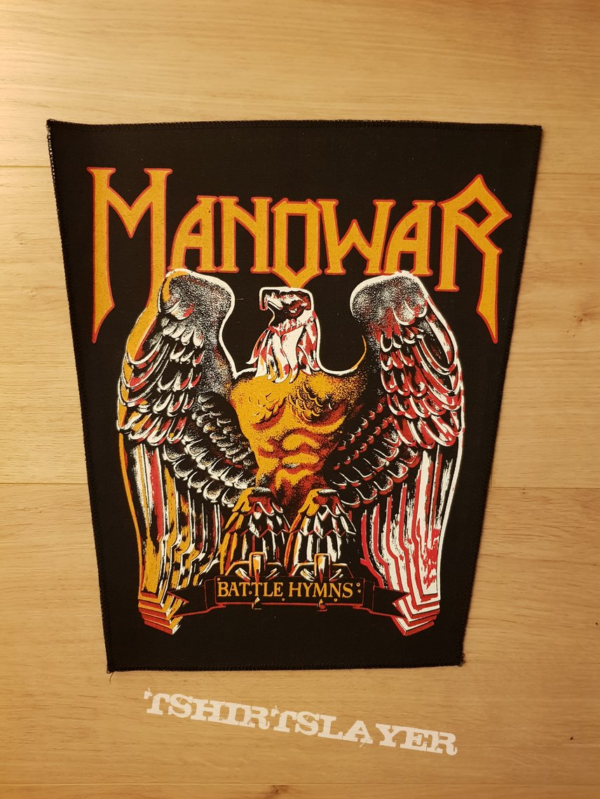 Manowar - Battle Hymns - vintage backpatch