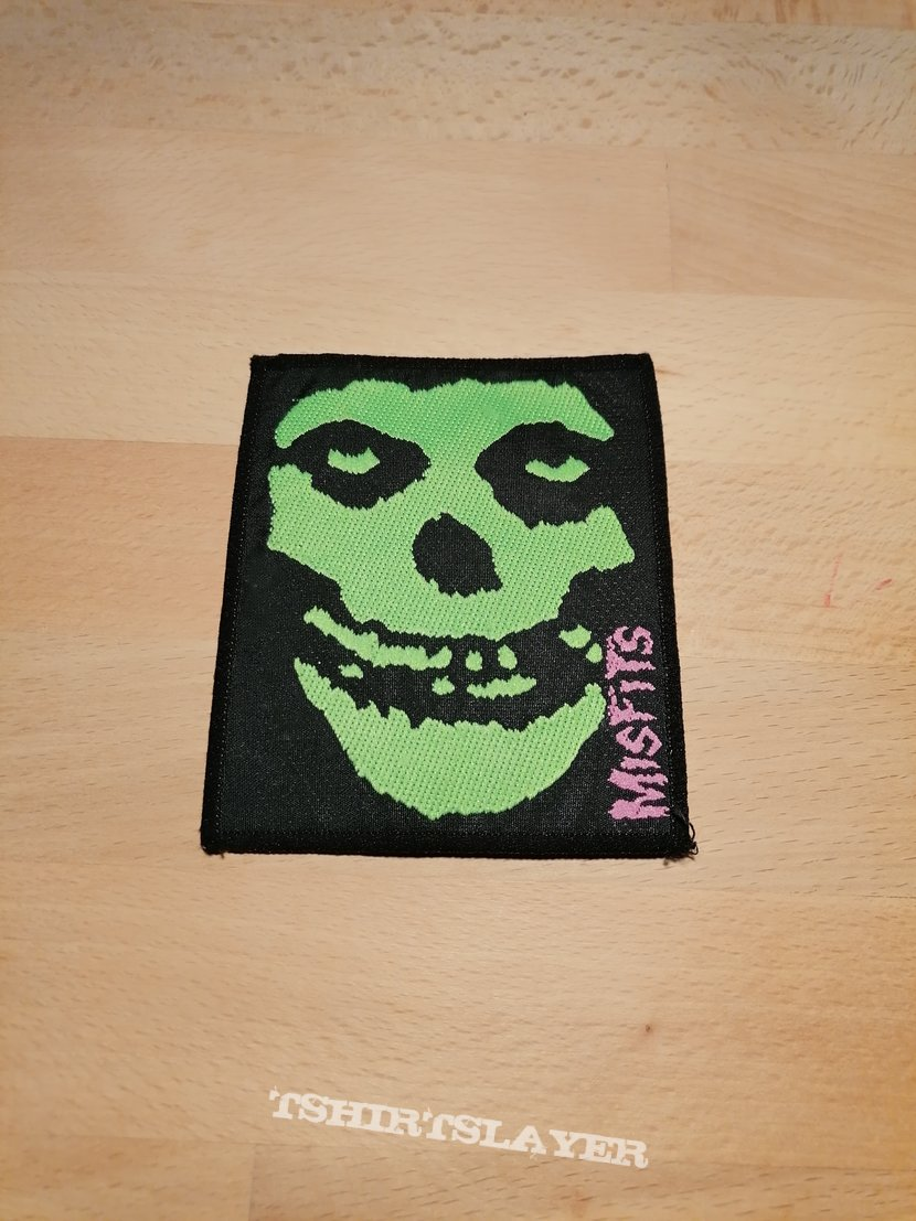 Misfits - green skull - patch
