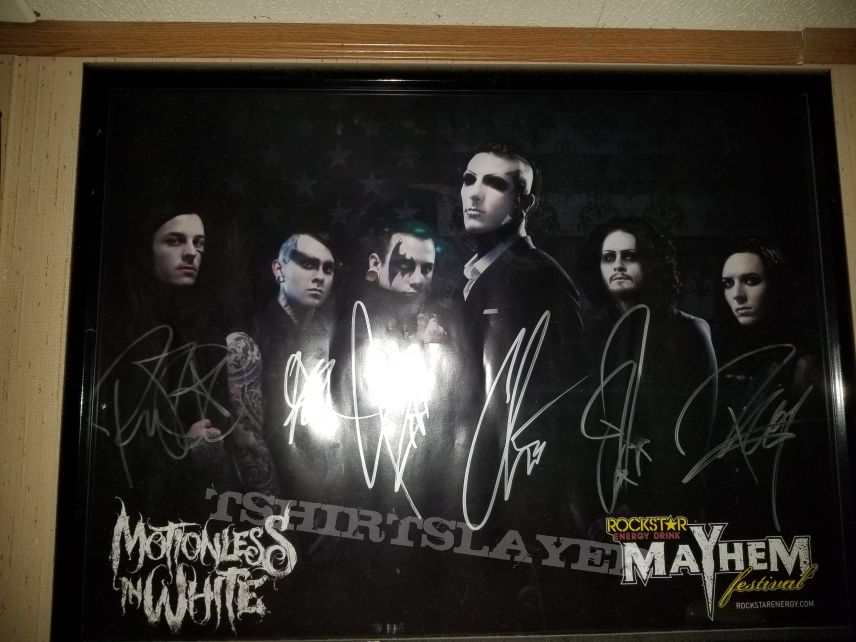 Motionless in White signed poster Mayhem Festival