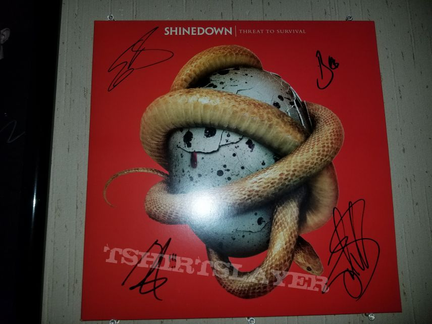 Shinedown signed Threat to Survival record