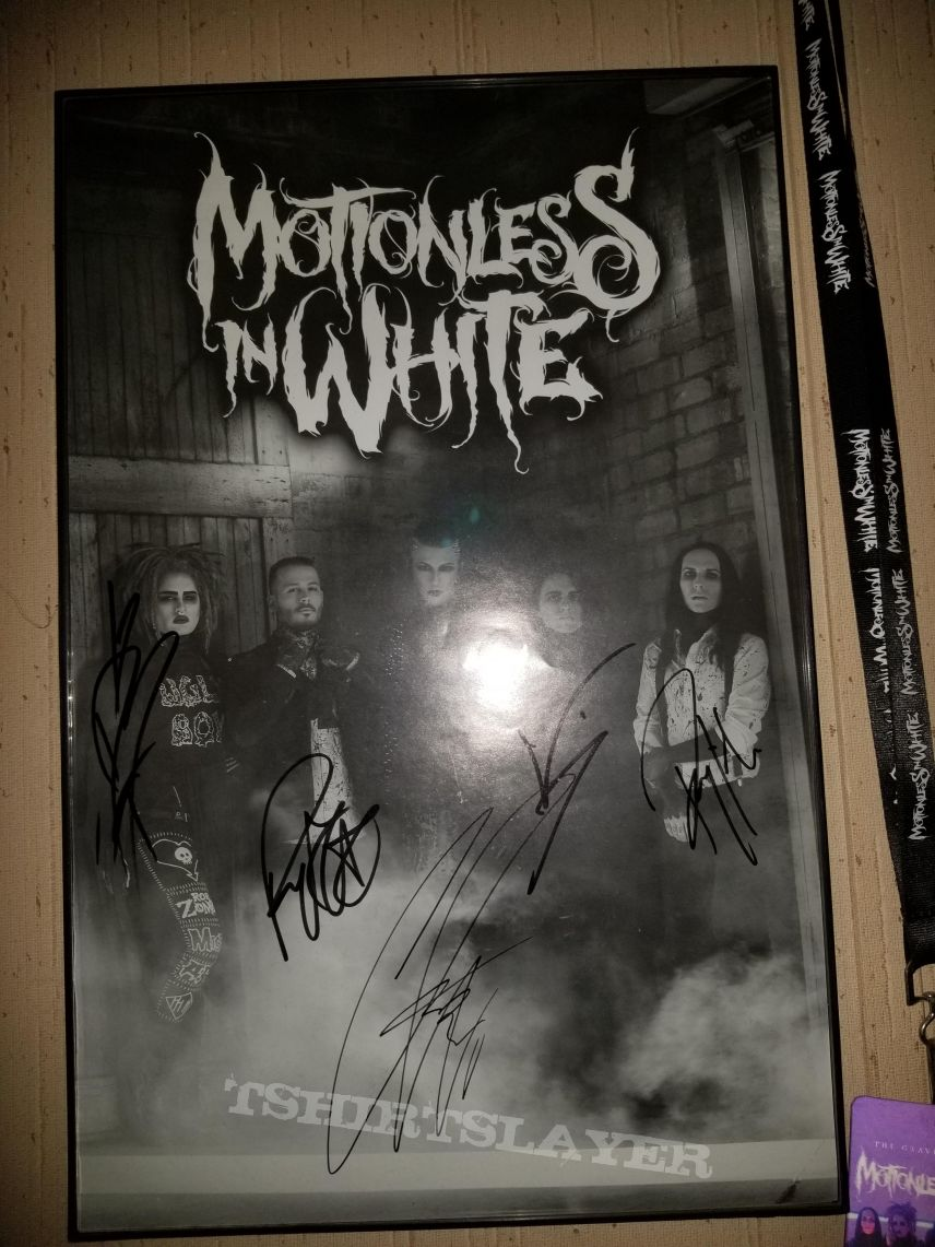 Motionless In White signed poster Graveyard Shift tour