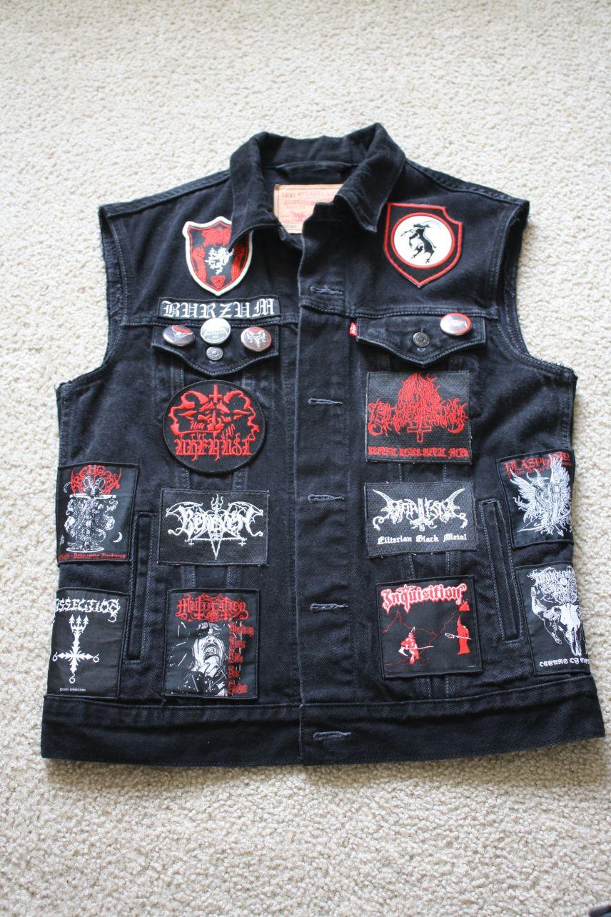 Battle Jacket - Black Metal Vest
