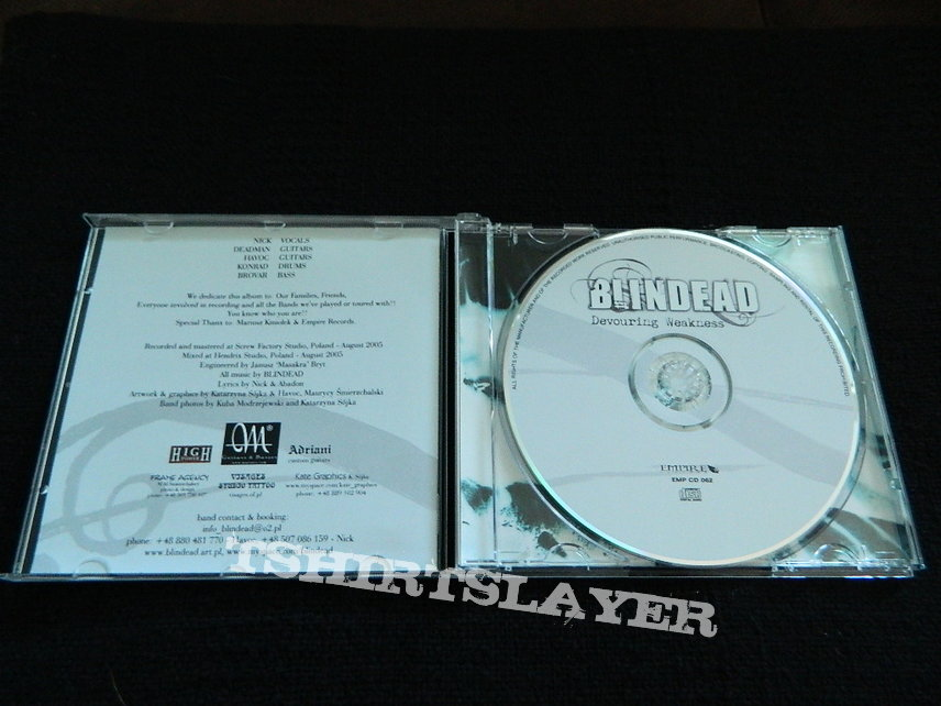 Blindead , Devouring Weakness , 1st press 2006 Empire Records