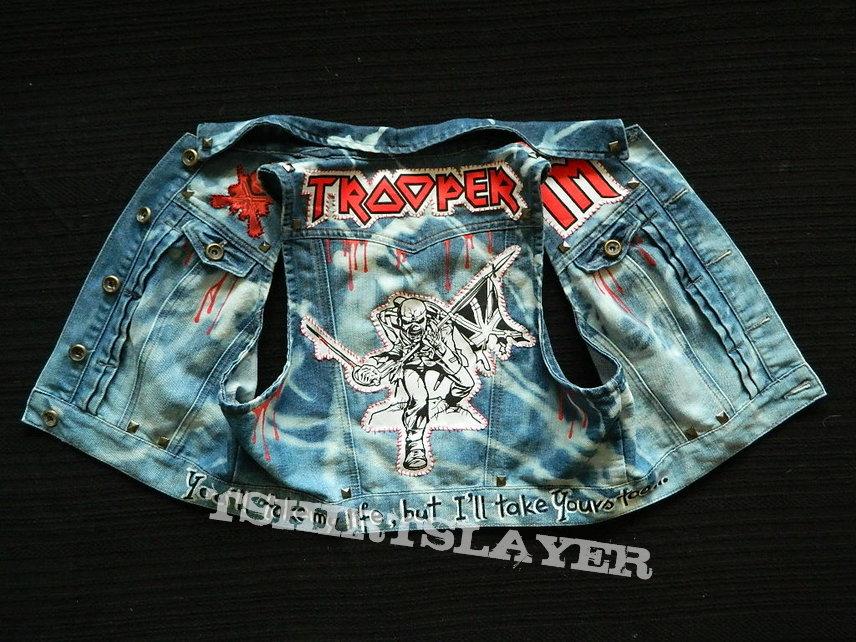 Iron Maiden The Trooper denim weste