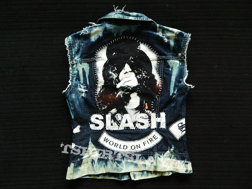 Slash denim weste battlevest handmade