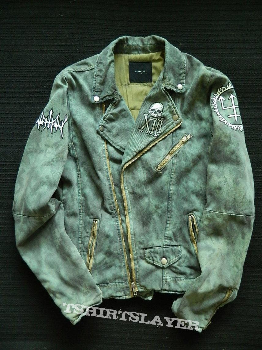 Watain Denim Jean jacket rocker biker Battle Jacket