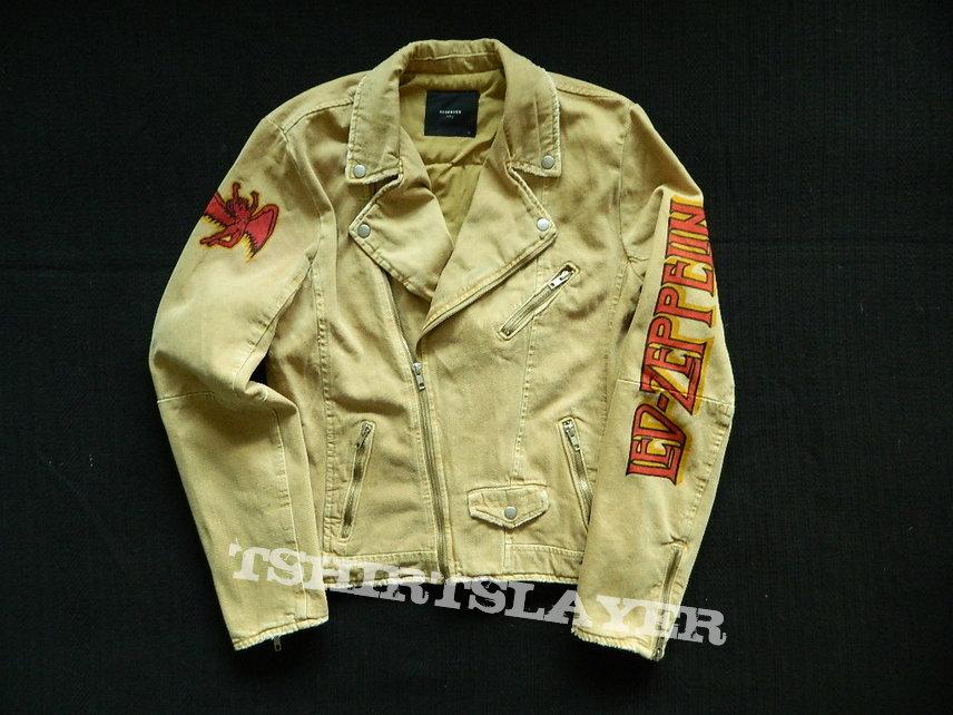 Led Zeppelin EARLS COURT TICKETS denim rocker jacket