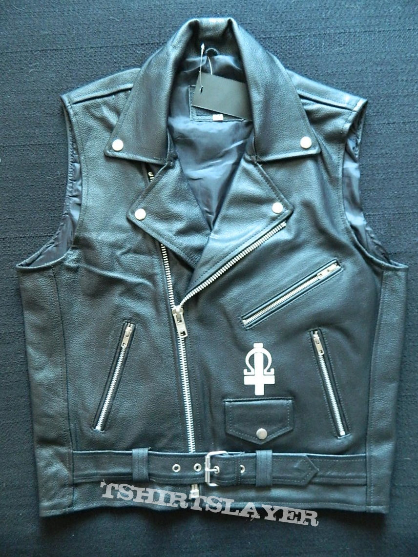 Azaghal hand painted leather vest