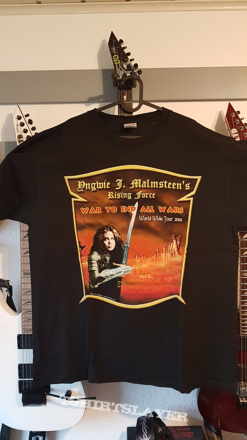 Yngwie Malmsteen War to End..Tourshirt TS