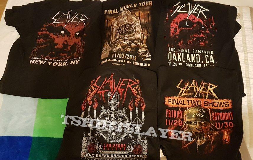 Slayer  All Special Tour Event Shirts 2019 USA