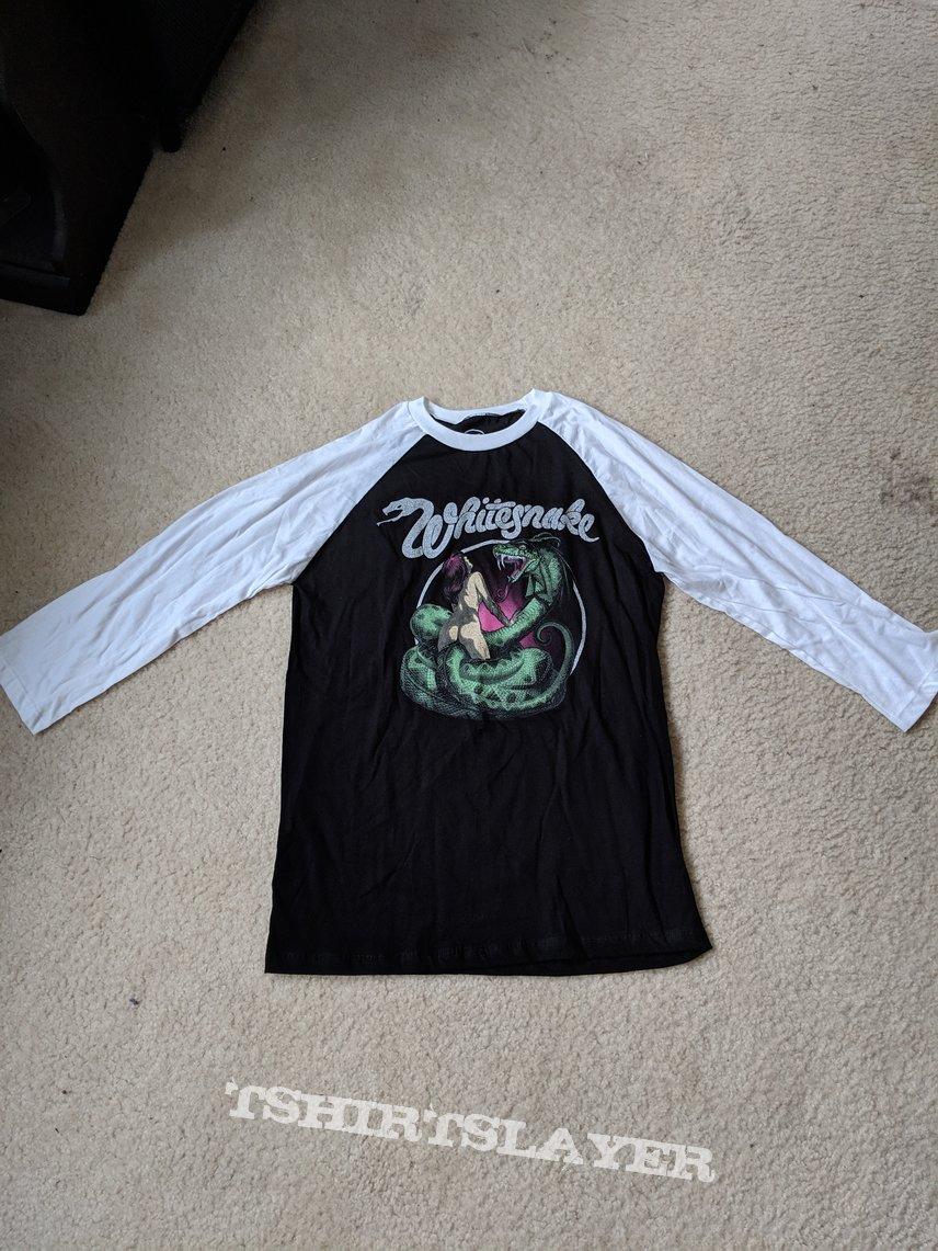 Whitesnake - Lovehunter 3/4 sleeve baseball tee (white/black)