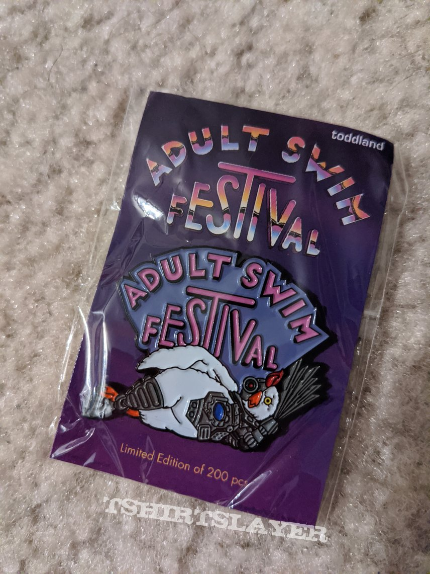 Adult Swim Festival Robot Chicken pin