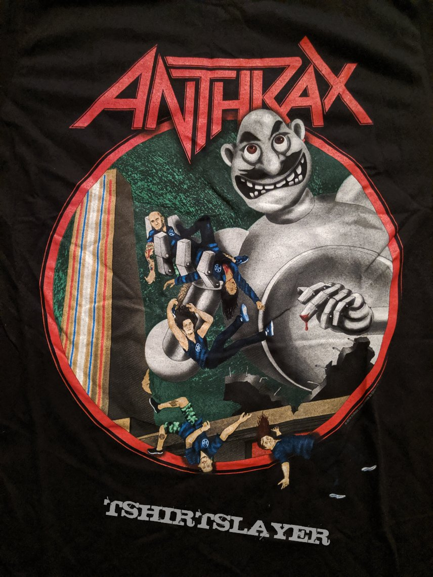 Anthrax - 2019 World Tour shirt (Queen/Frank Kelly Freas parody)