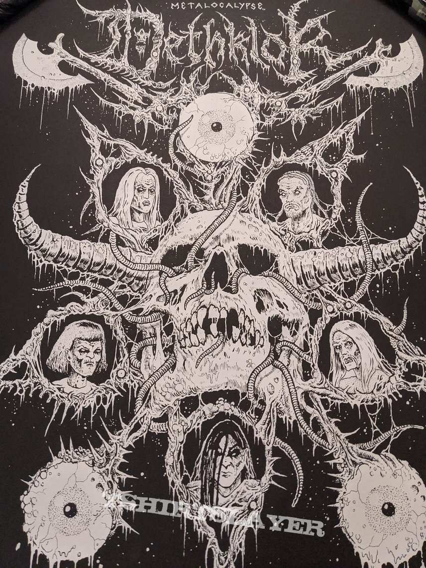 Metalocalypse / Dethklok - Adult Swim Festival 2019 limited edition numbered poster