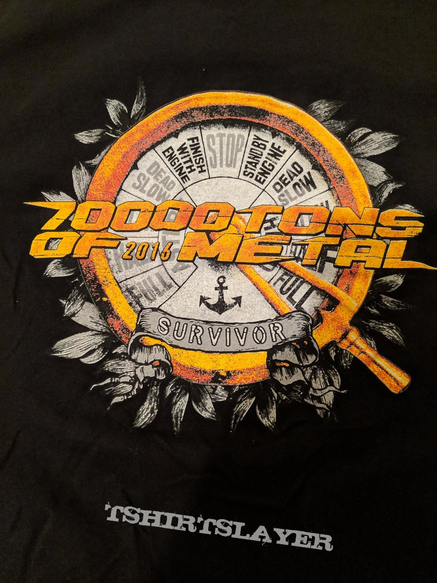 70,000 Tons of Metal 2016 Survivor event shirt