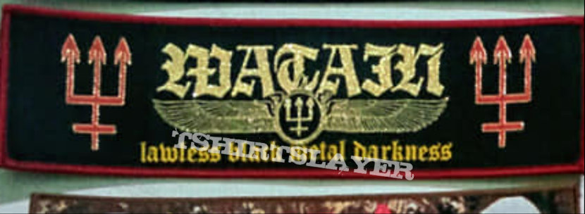 Watain Lawless Black Metal Darkness Woven Strip Patch