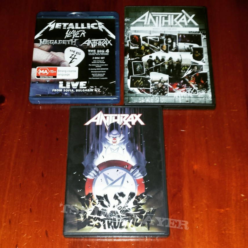 Anthrax DVDs and Blurays