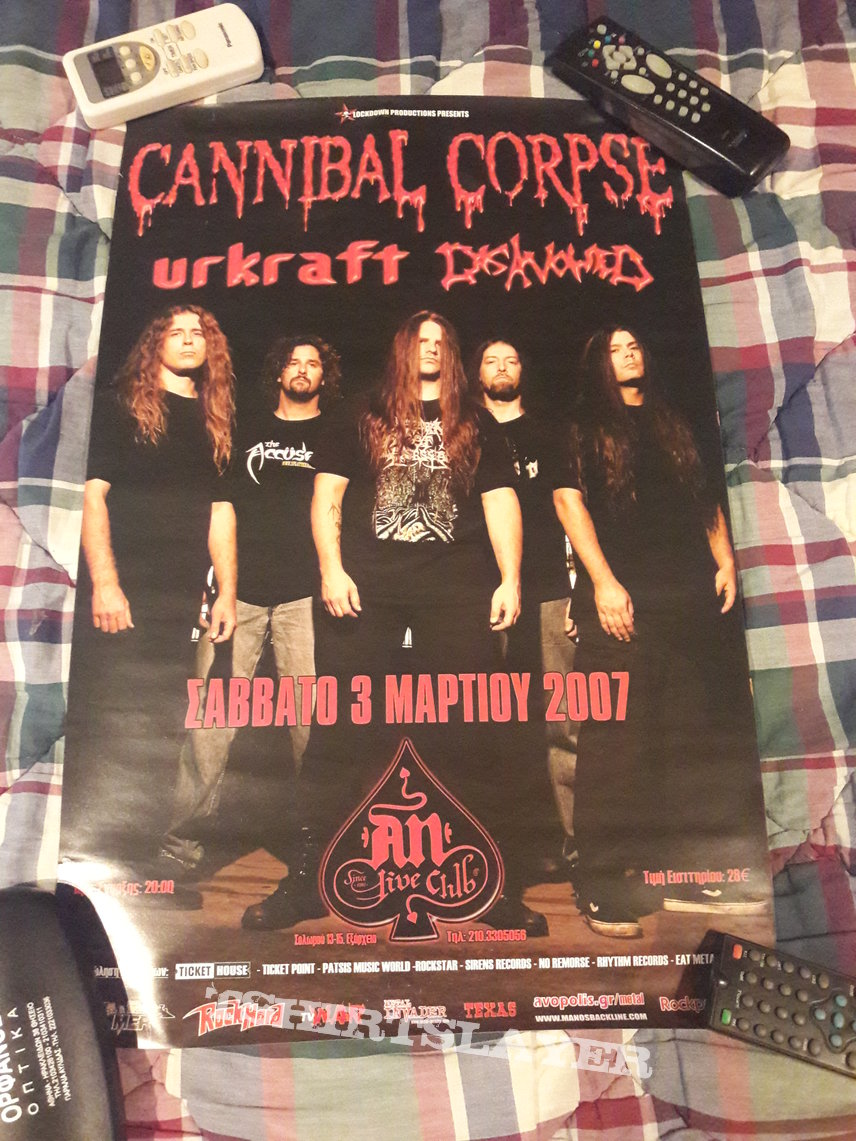Cannibal Corpse 2007 Event Poster