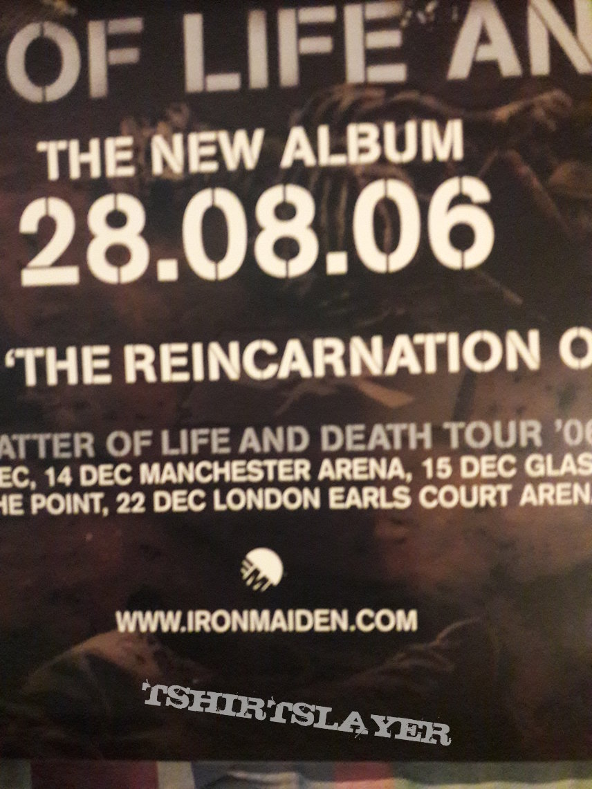 Iron Maiden A matter Of Life And Death Promo Poster