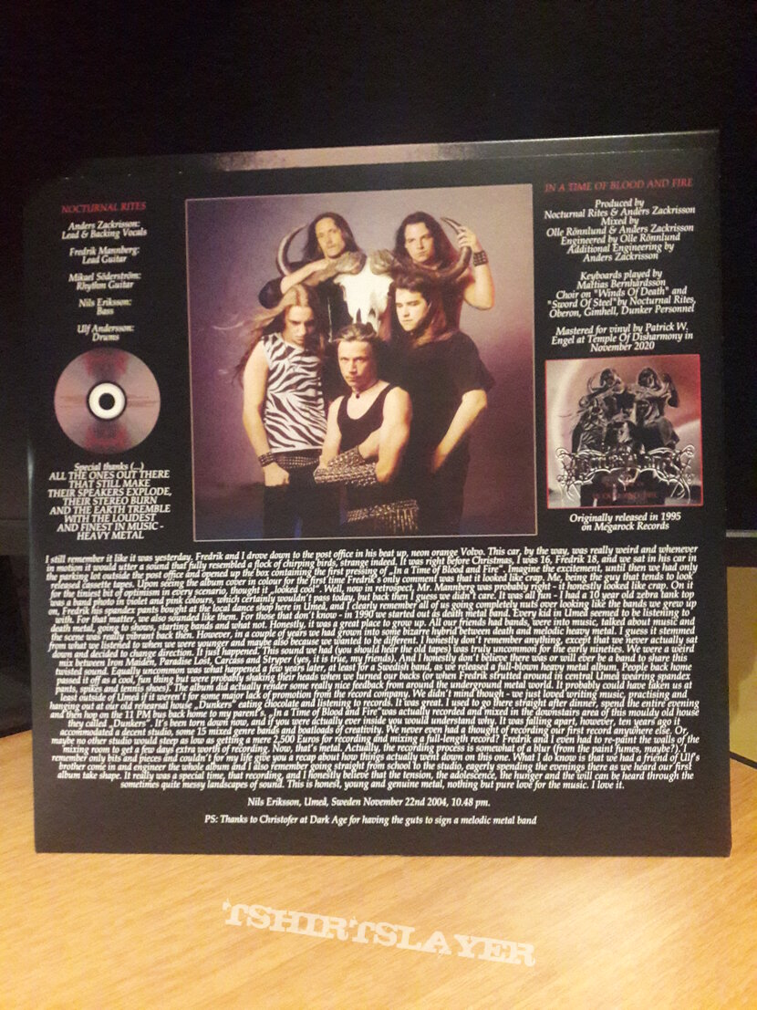 Nocturnal Rites – In A Time Of Blood And Fire LP