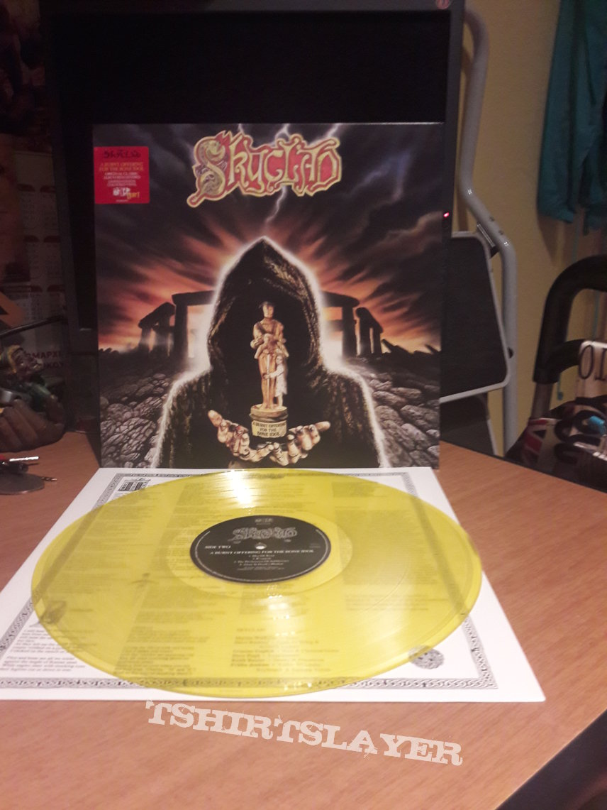 Skyclad ‎– A Burnt Offering For The Bone Idol (Yellow Vinyl)
