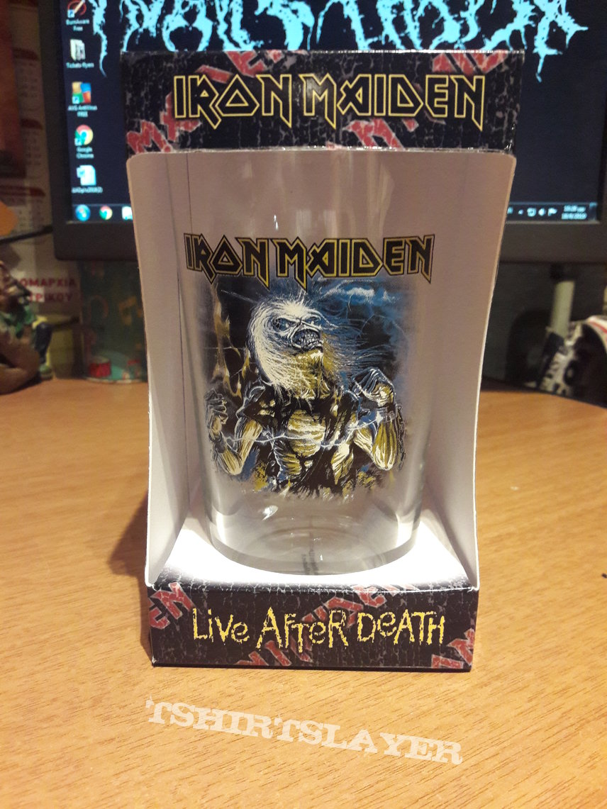 Iron Maiden Live after death PINT GLAS