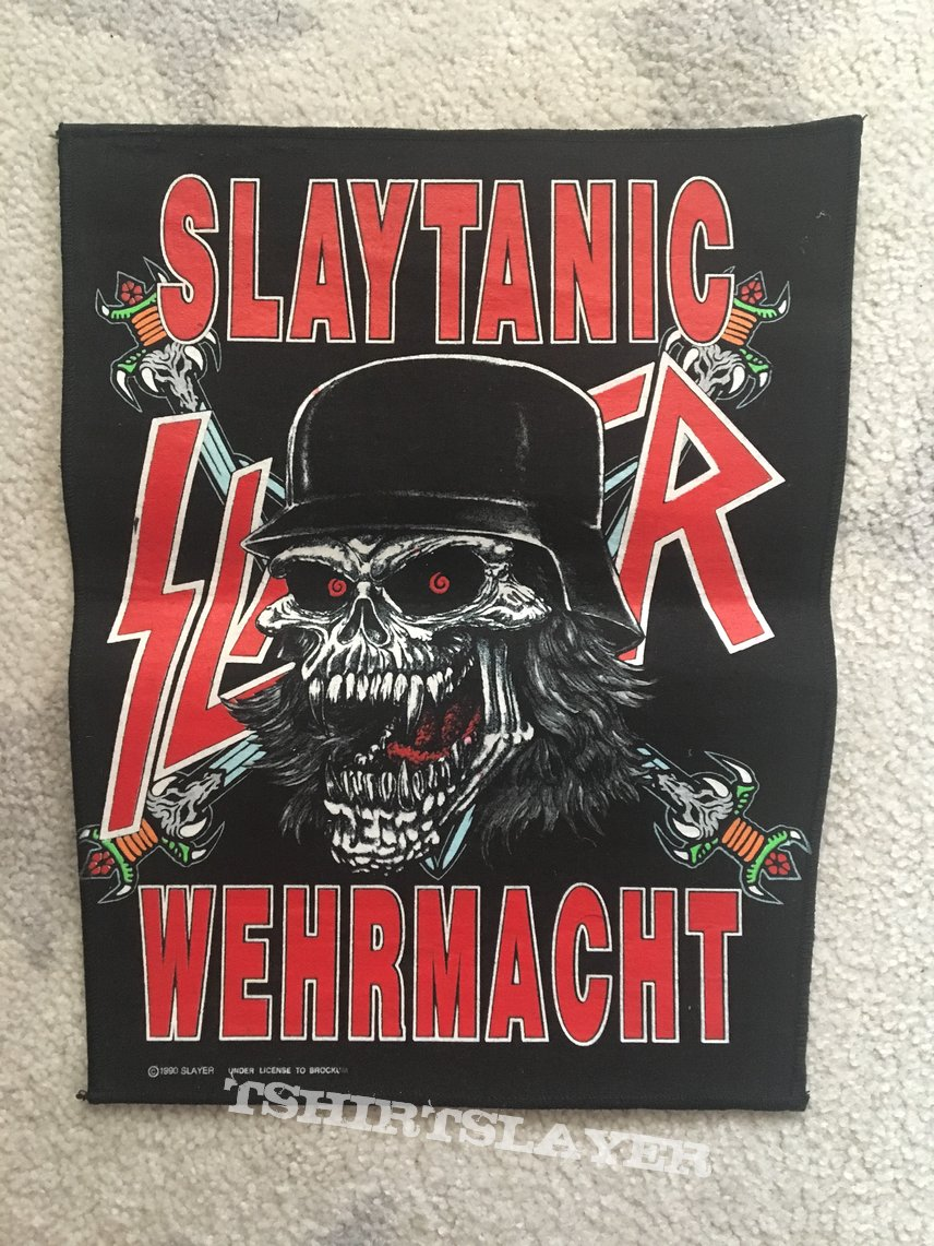 Slayer slaytanic wehrmacht back patch official 1990