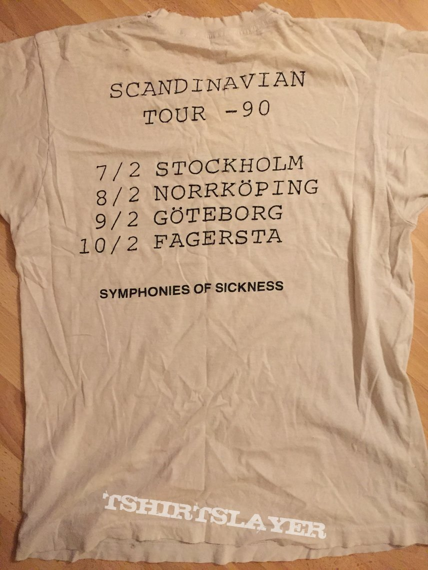 Carcass Scandinavian tour 90