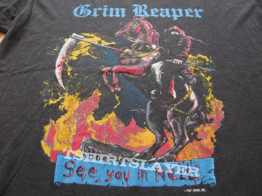 GRIM REAPER - See You in Hell 1987 Tour Shirt SEP/OCT