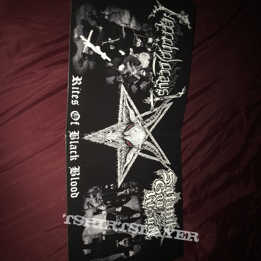 "Necroholocaust / Satanik Goat Ritual ""Rites of Black Blood"" split 10"""