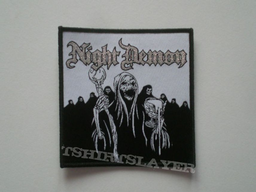 Night Demon OFFICIAL woven patch, SOLD OUT.