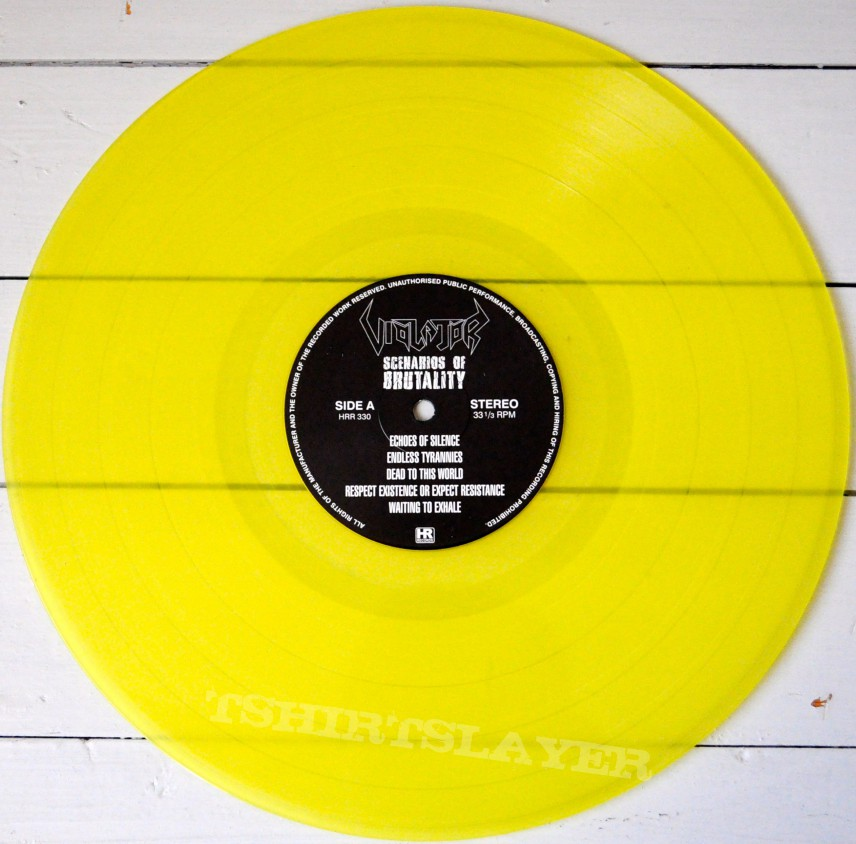 VIOLATOR Scenarios Of Brutality Original Yellow Vinyl