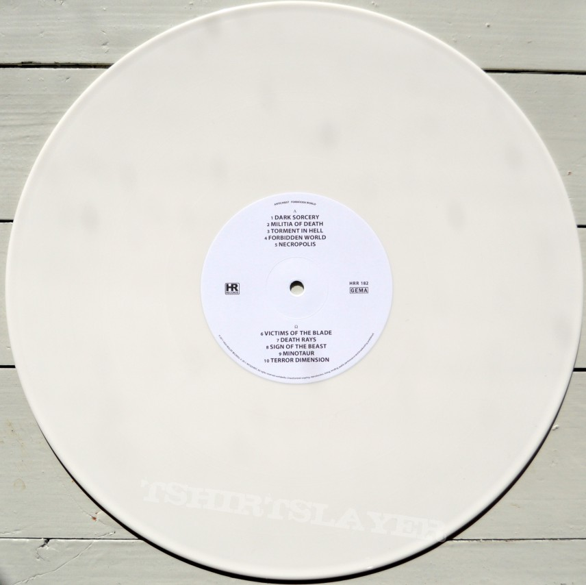 ANTICHRIST Forbidden World Original White Vinyl