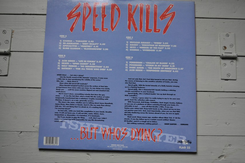 Other Collectable - Speed Kills IV V/A Original Vinyl