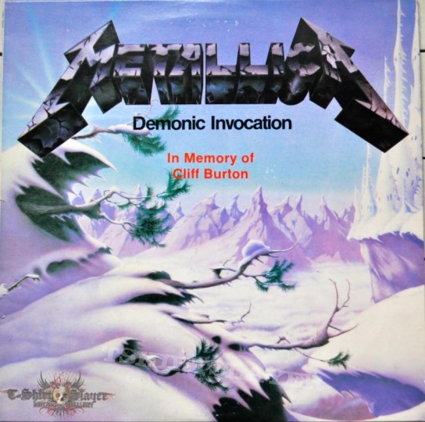 Metallica Demonic Invocation Bootleg Vinyl Tshirtslayer
