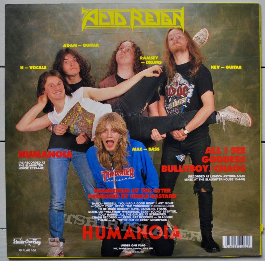 "ACID REIGN Humanoia 10"" Original Vinyl"